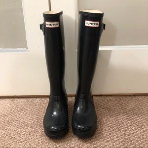 Black Hunter Rain Boots, Size Women's 6
